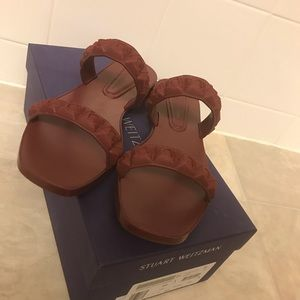 Shoes - Stuart weitzman Rosita two band slide sandals SZ8